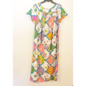 Vintage Mod Floral Mumu House Dress